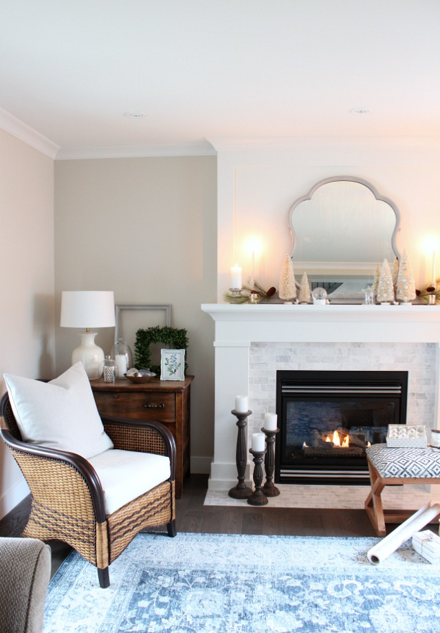 Mantel Decorating Ideas for Christmas - Creating a Winter Wonderland