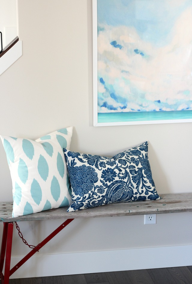 Christmas Decorating Ideas - DIY Pillow Covers with Oversized Abstract Art