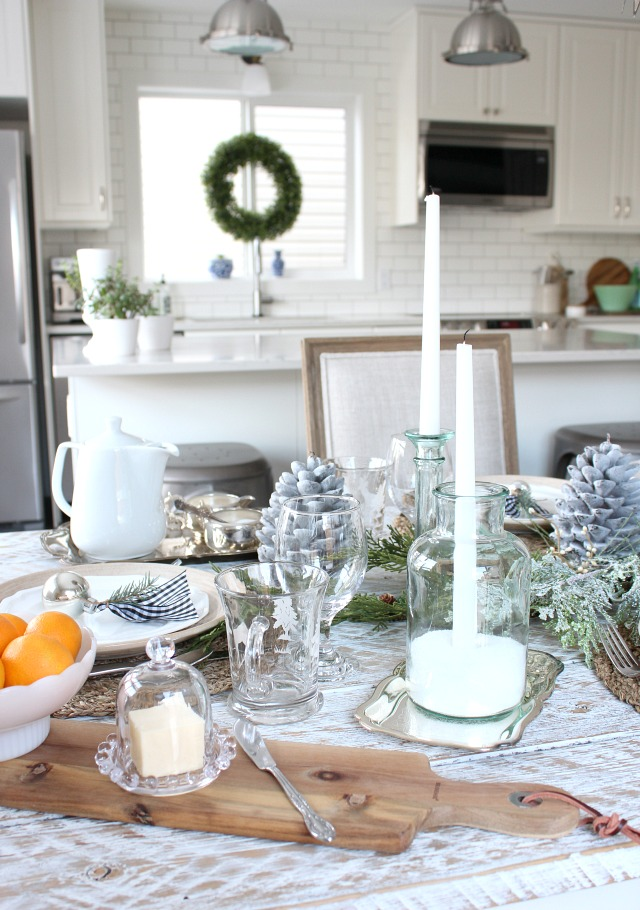 Christmas Home Tour - Winter Wonderland Kitchen Decorations