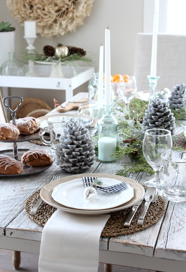 White Christmas Home Tour - Winter Tablescape Decorating Ideas