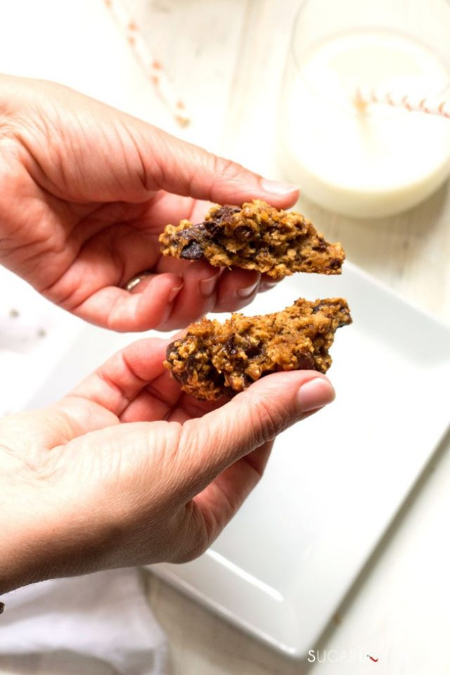 Tasty Banana Recipes - Banana Chocolate Chip Oat Cookies from Sugar Love Spices