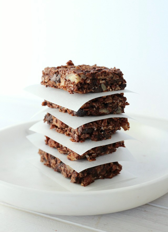 Chocolate Oat Breakfast Bars - Gluten-free and Dairy-free - Homemade Energy Bar Recipe