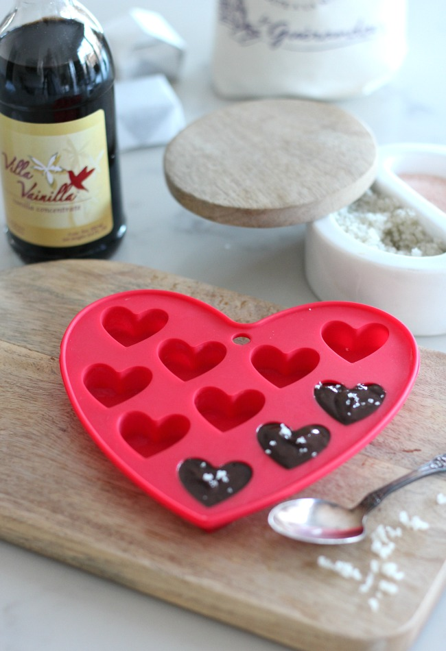 How to Make Homemade Chocolate Heart Truffles with Sea Salt