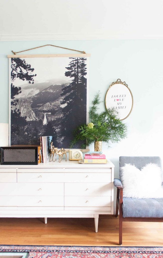 DIY Wall Art - Black and White Hanging Poster Art by Lay Baby Lay