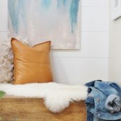 DIY Wall Art Ideas - Abstract art using paint samples by City Farmhouse