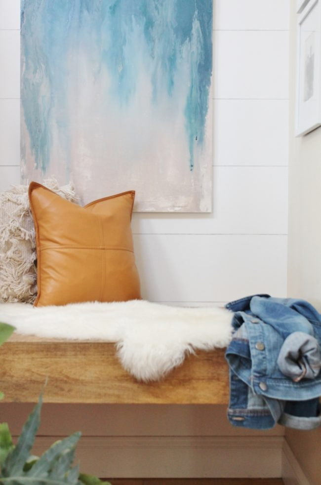 DIY Wall Art Ideas - Abstract oversized art using paint samples by City Farmhouse