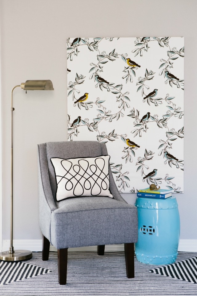 DIY Wall Art Ideas - Stretched Fabric Canvas by Design Improvised