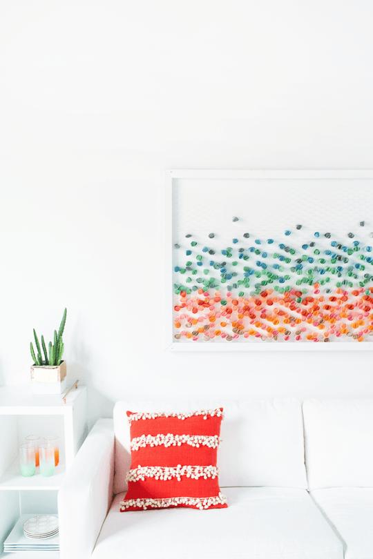 DIY Wall Art - Paper Wall Art Tutorial by Sugar and Cloth