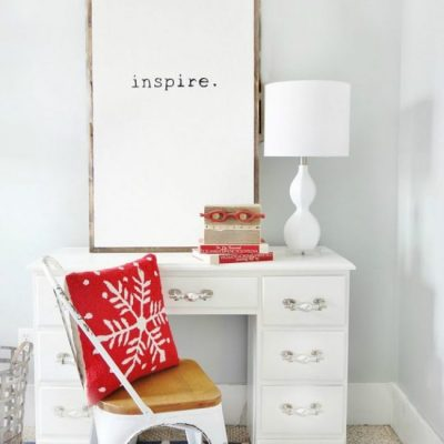 DIY Wall Art - Word of the Year Art - Inspire Wall Decor by Thistlewood Farms