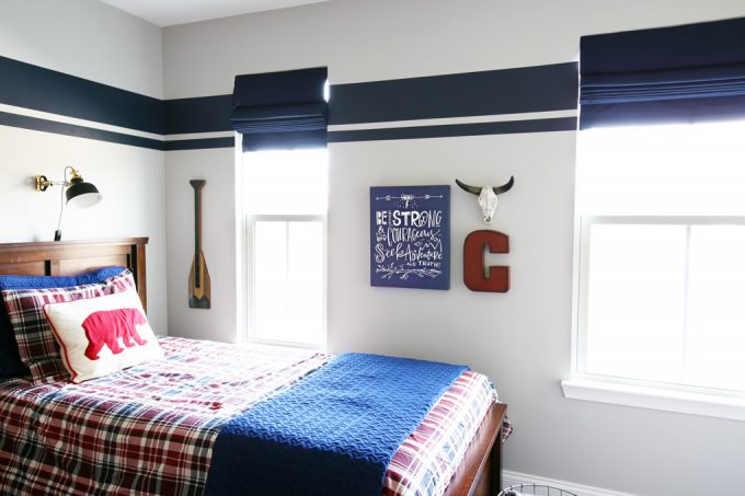 Behr Marquee Silver City Shared Boys Bedroom - Just a Girl and Her blog - Favorite Paint Colors Series