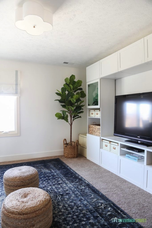 Benjamin Moore Simply White TV Room Craft Room - Life on Virginia Street -Favorite Paint Color