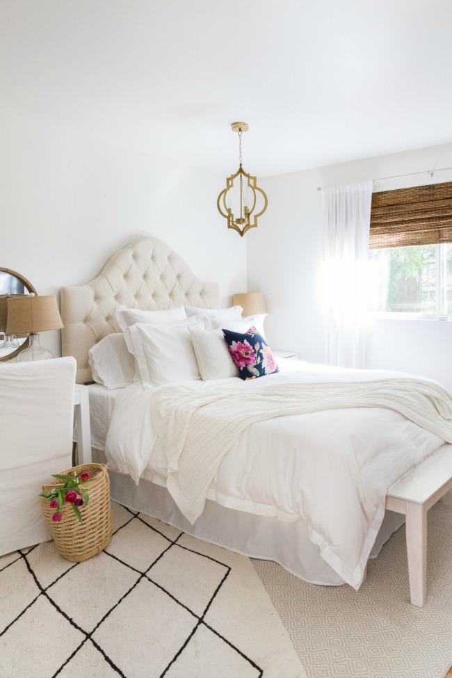 Clark and Kensington Linen Painted Bedroom Walls - Zevy Joy - Favorite Paint Colors
