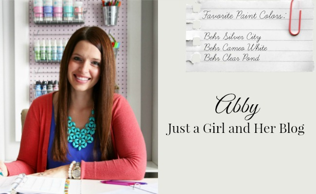Favorite Paint Colors - Abby from Just a Girl and Her Blog