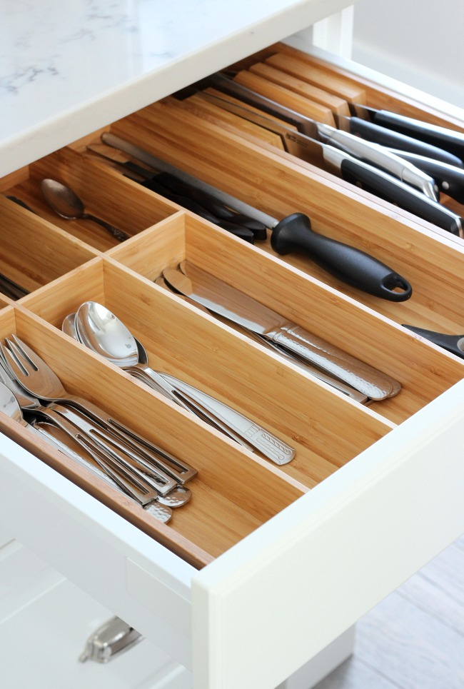 Ordinaire IKEA Bamboo Cutlery Tray   Tips For A Better Organized Kitchen   Kitchen  Drawer Organizer