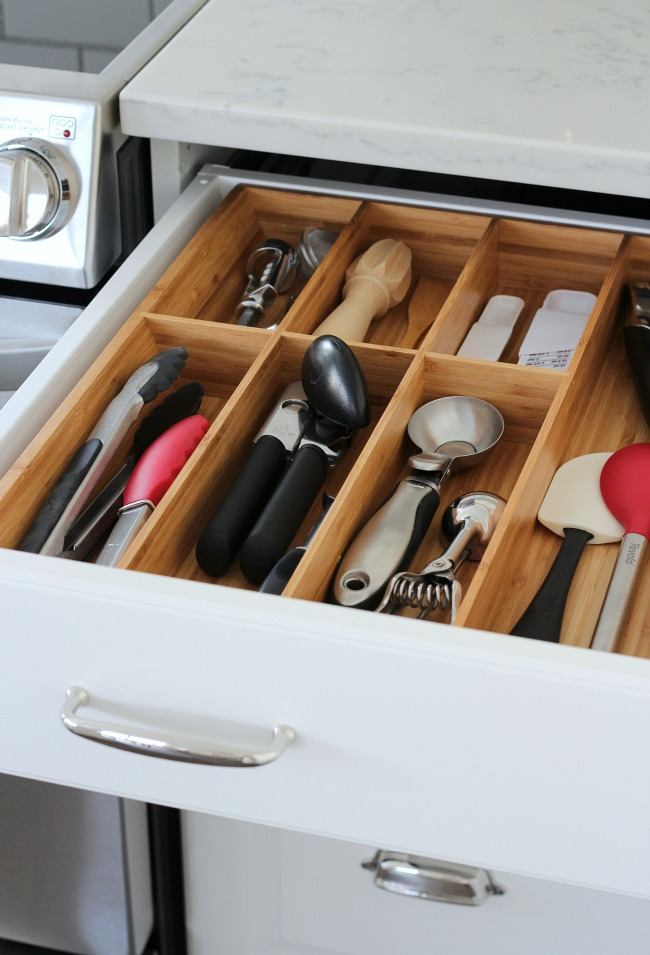 wood drawer organizers kitchen Better Organized Kitchen With The Home Decluttering Diet