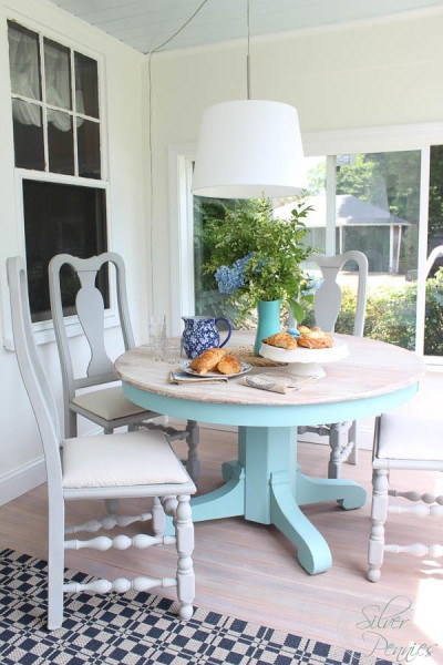 Benjamin Moore Simply White Sunroom - Finding Silver Pennies - Favorite Paint Colors Series