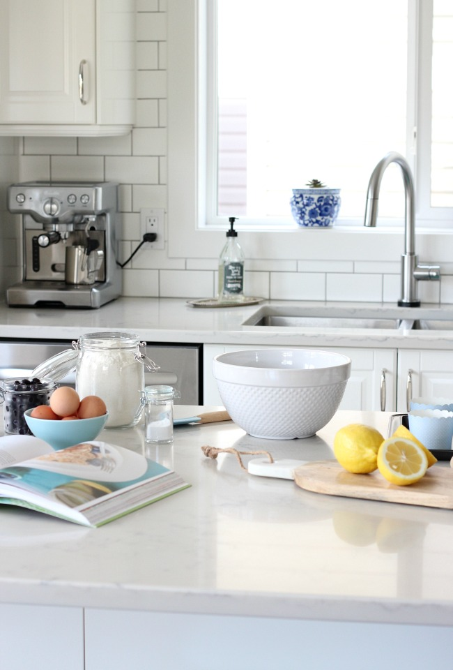 Spring Home Tour - White IKEA Kitchen with Cheery Spring Decor