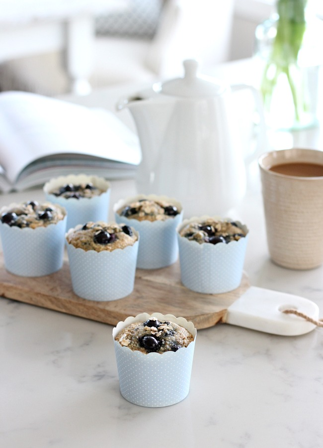 Spring Kitchen Tour - Baking Blueberry Oat Muffins (Gluten-free)