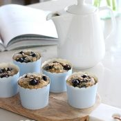 Spring in the Kitchen - Wholesome Blueberry Oat Breakfast Muffins Gluten-Free