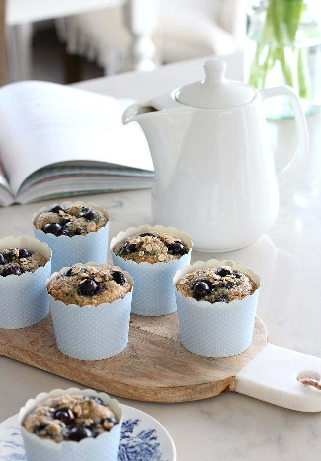 Wholesome Blueberry Oat Breakfast Muffins Gluten-Free - On-the-go Breakfast Recipe