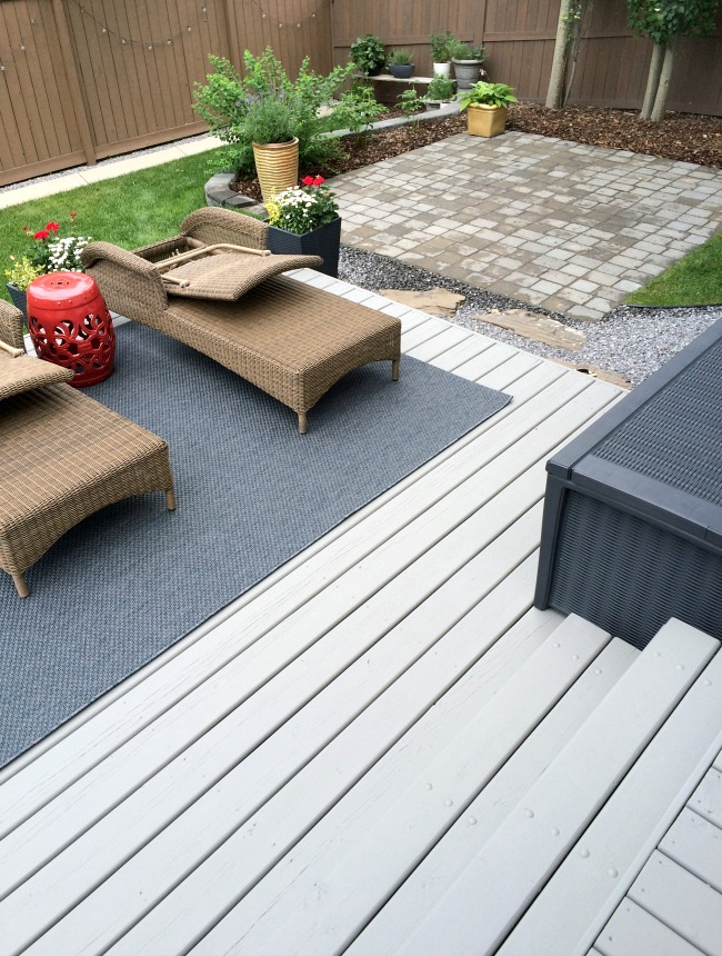 Two Level Deck Makeover - Medium Gray Deck Stain - Chelsea Gray by Benjamin Moore