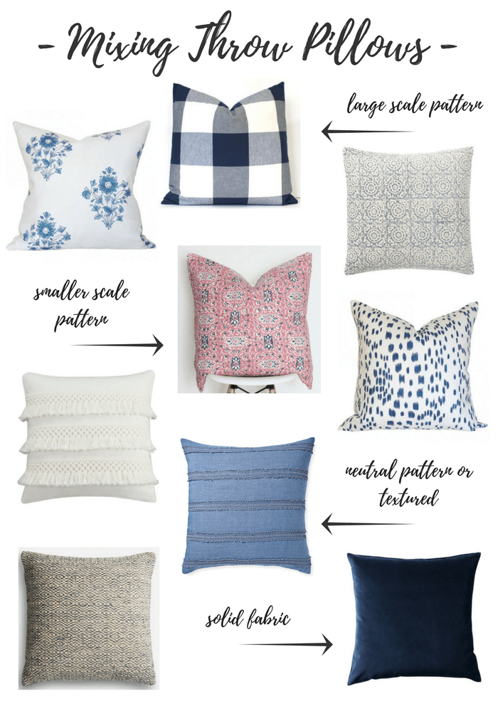 Tips for Mixing Throw Pillows in the Living Room - Satori Design for ...