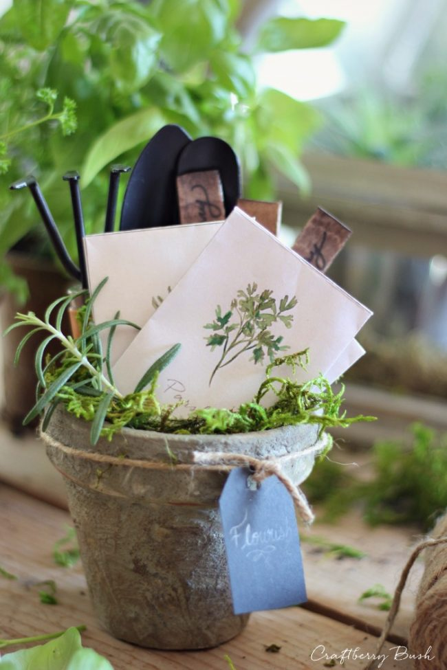 DIY Gift Ideas for the Gardener - Printable Watercolor Seed Packets by Craftberry Bush