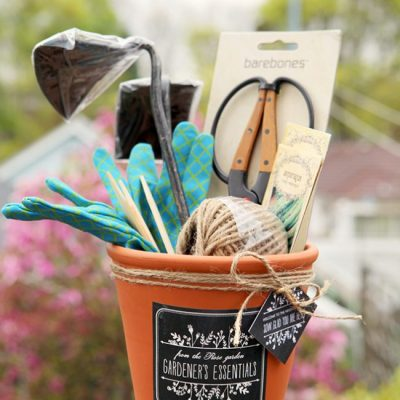 DIY Gift Ideas for the Gardener - Terracotta Pot Gardening Gift Set - by Stephanie Rose for Evermine Occasions