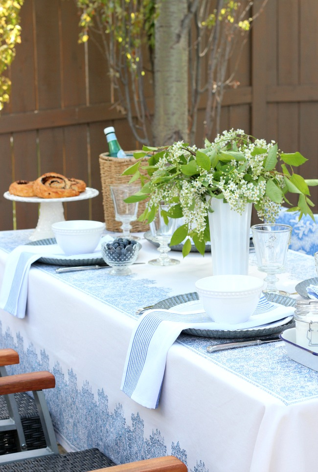 & Casual Outdoor Brunch Table Setting - Satori Design for Living
