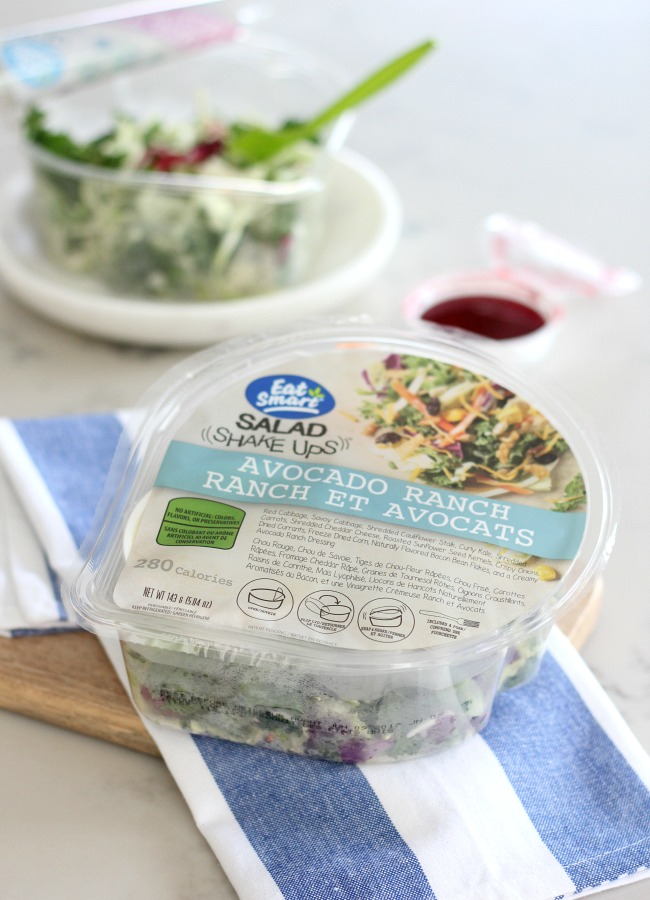 Healthy Salad Options for Busy Lives - Avocado Ranch Salad Shake Ups by Eat Smart