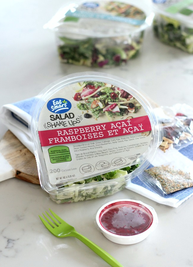Healthy Salad Options for Busy Lives - Raspberry Acai Salad Shake Ups by Eat Smart