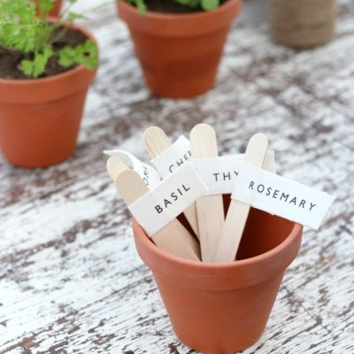 How to Make Herb Garden Markers for Pots