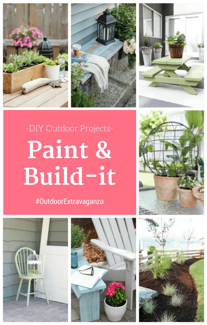 Outdoor DIY Project Ideas - Paint and Build-it Projects for the Outdoor Extravaganza hosted by SatoriDesignforLiving.com
