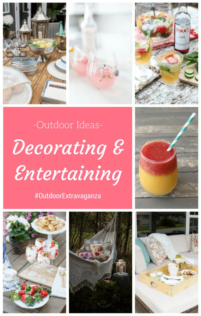 Check out these beautiful outdoor decorating and entertaining ideas from the Outdoor Extravaganza! More at SatoriDesignforLiving.com