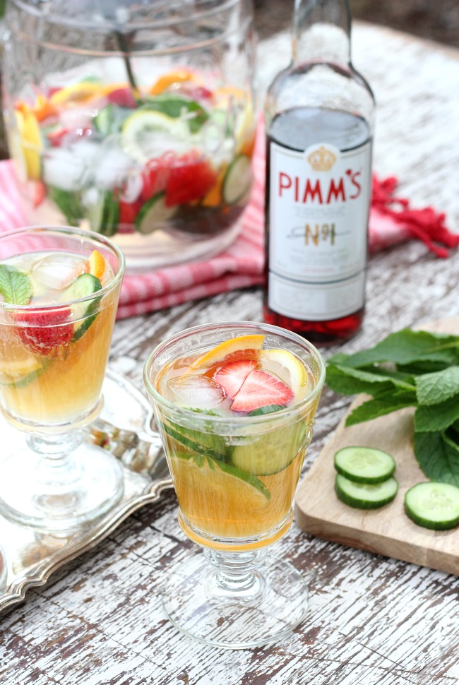 Make This Pimm's Cocktail in a Large Glass Canister for Outdoor Entertaining - Pimms Jug Recipe