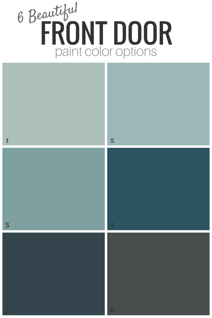 6 Beautiful Front Door Paint Color Options