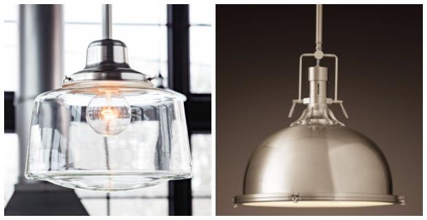 Classic White Kitchen Renovation Finishes - Vintage-inspired Pendants