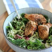 Herb Infused Grilled Chicken and Kale Salad
