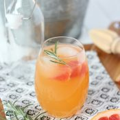 Rosemary-Infused Fresh Grapefruit Spritzer