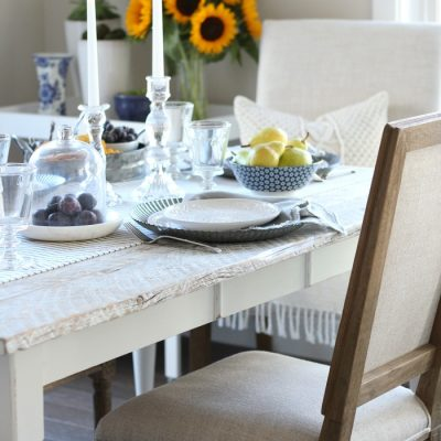 Fall Home Tour – French Farmhouse Style Tablescape