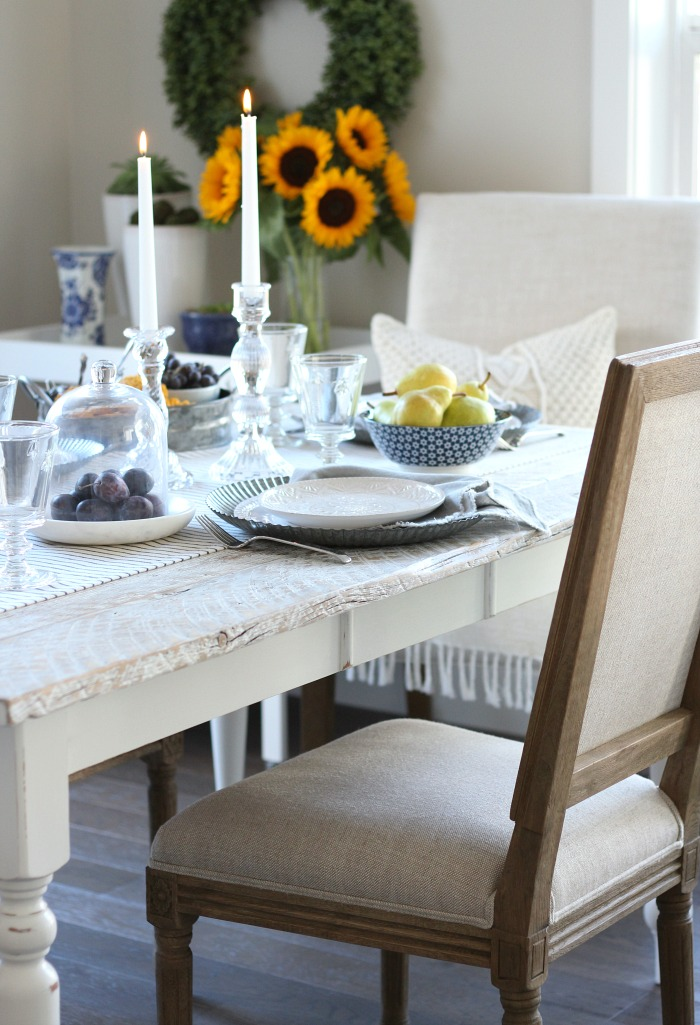 Fall Home Tour - Casual French Country Fall Table Setting - Satori Design for Living
