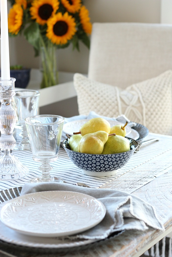 Fall Home Tour - French Farmhouse Style Fall Tablescape with Touches of Boho - Satori Design for Living