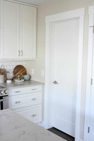 Replacing Oak Trim with White Trim - Shaker Style Trim - Satori Design for Living