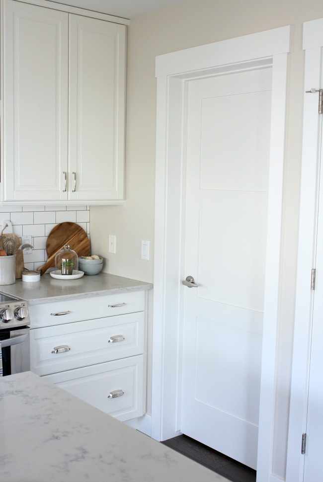 Replacing Oak Trim with White Trim - Shaker Style Trim - Satori Design for Living