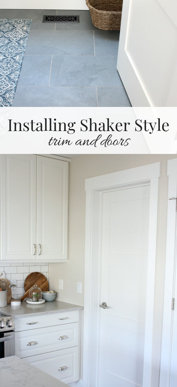 Installing shaker style trim and doors throughout our entire main floor made everything look so bright and fresh. You won't believe the difference!
