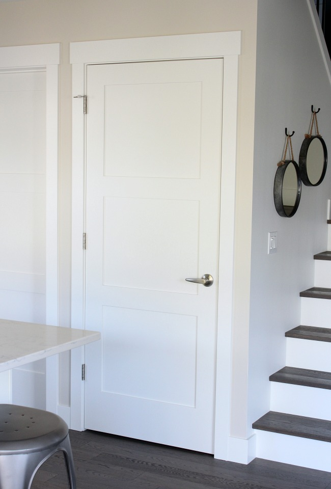 White Shaker Style Trim Work and Doors - Satori Design for Living
