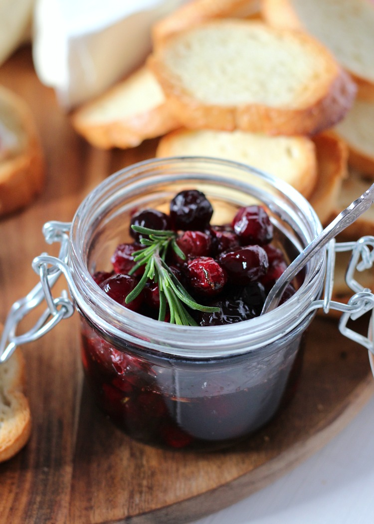 Homemade Cranberry Brie Topping - Holiday Appetizer Recipe - Satori Design for Living