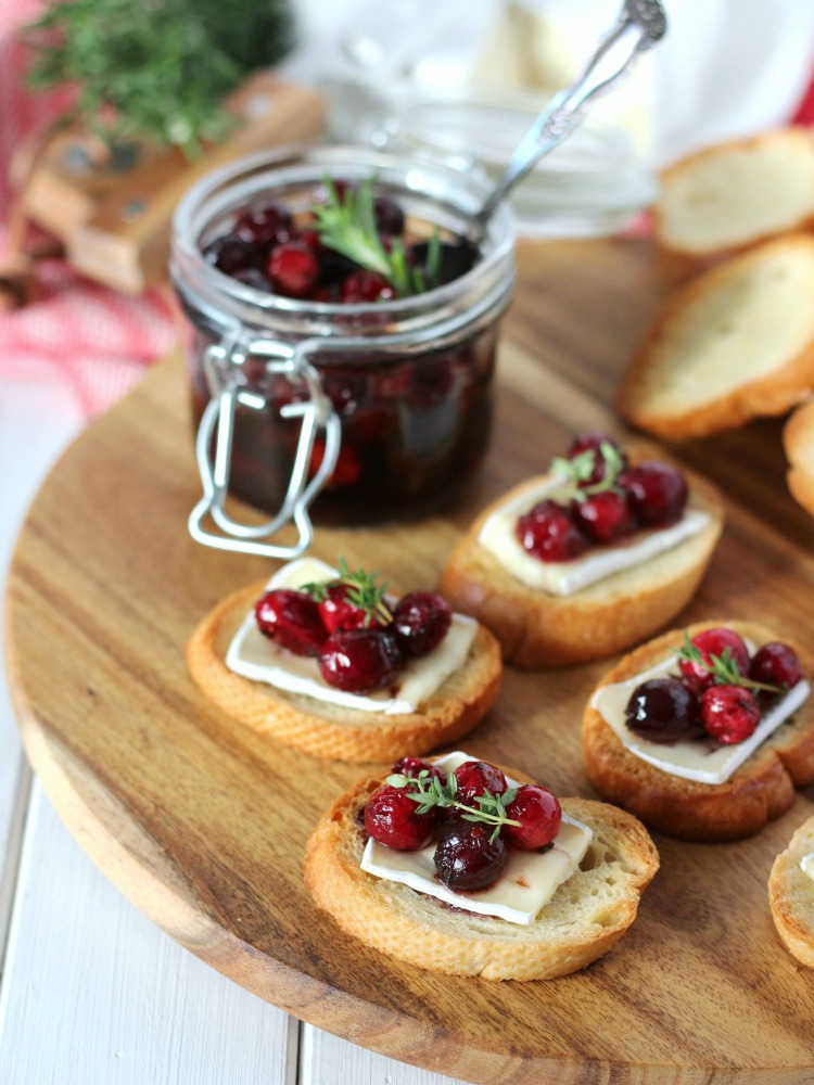 Festive Crostini with Brie and Cranberry Topping - Satori Design for Living