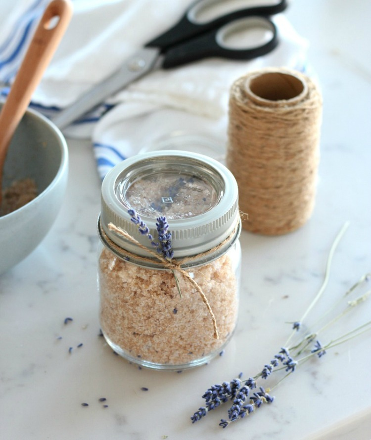 Lavender Hand Scrub Recipe - Easy DIY Gift Idea for Her - Satori Design for Living