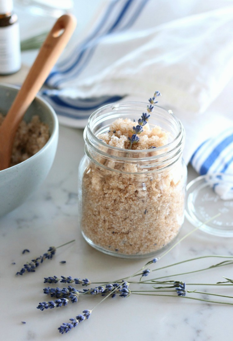 Lavender Sugar Scrub - Easy Handmade Gift Idea Using Natural Ingredients - Satori Design for Living